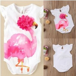 """Other - New! Beautiful """"flamingo"""" romper for baby girl"""